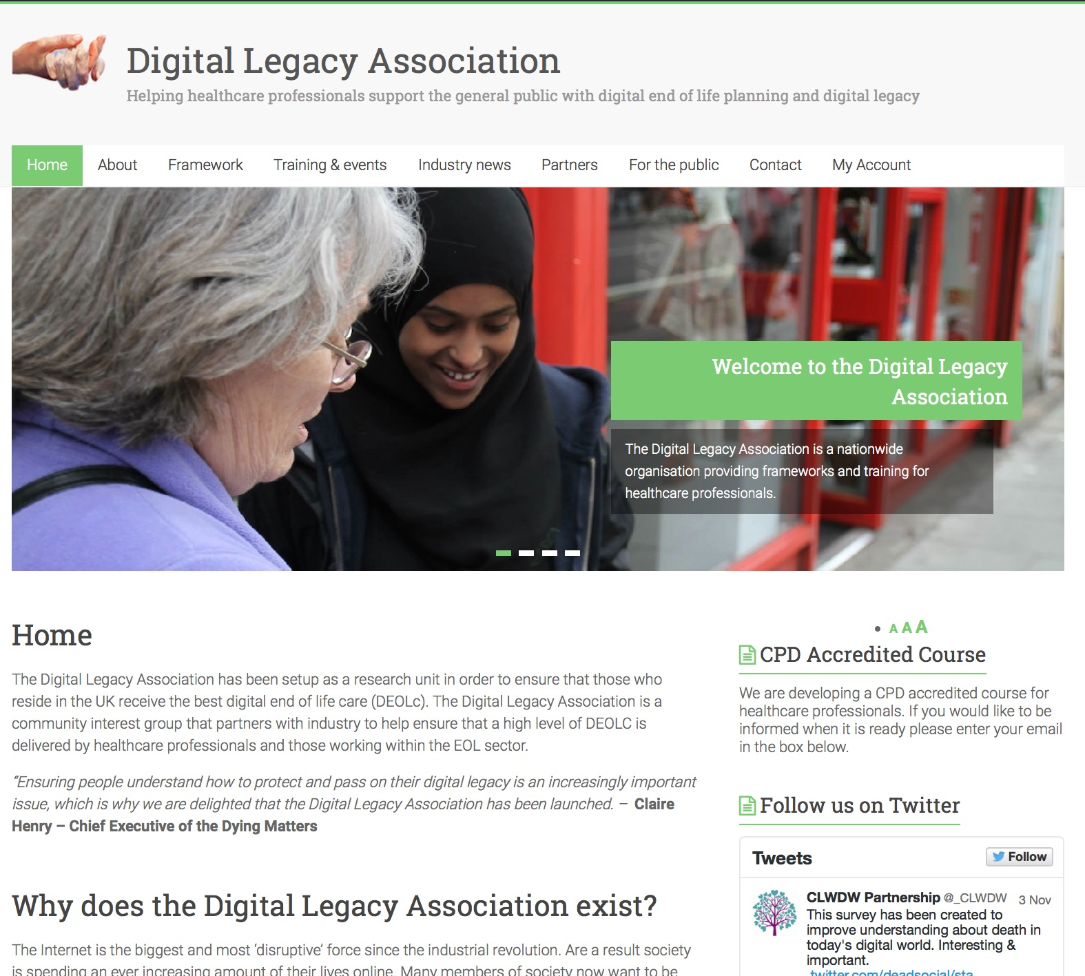 Digital Legacy Association Homepage