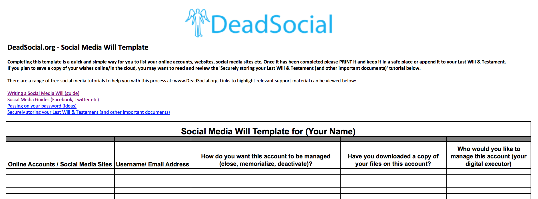 deadsocial prepare for death digitally build your digital legacy