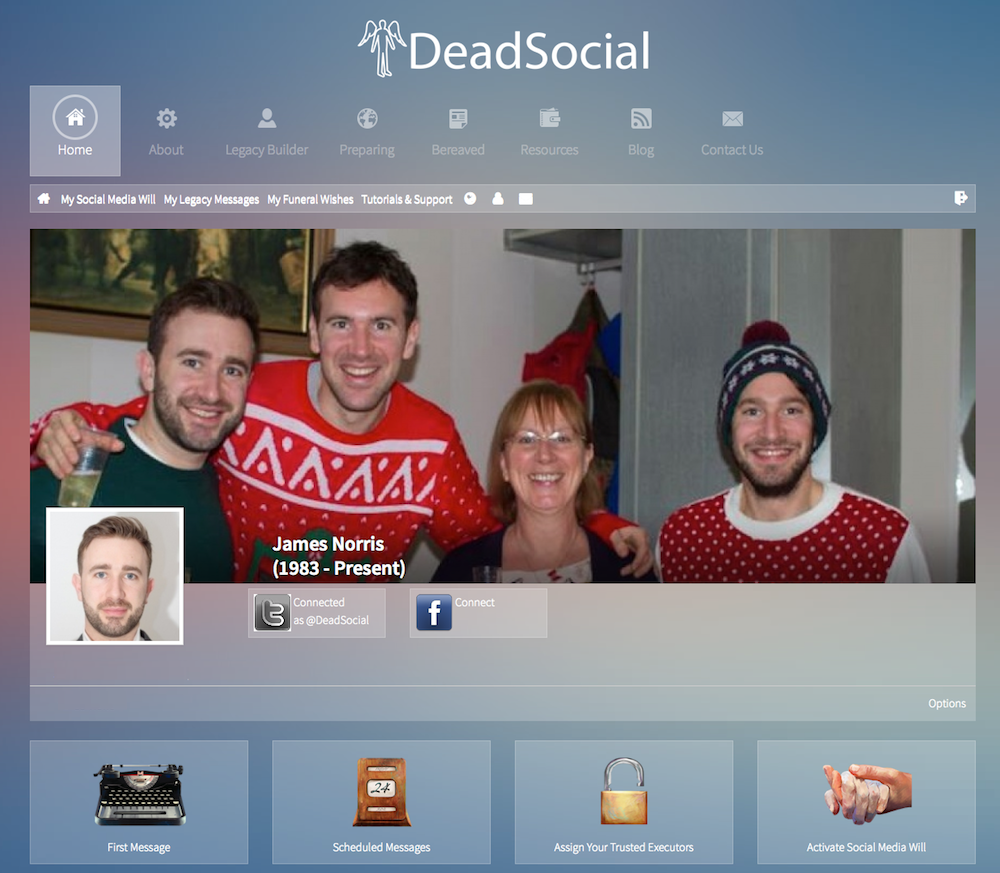 DeadSocial Goodbye tool
